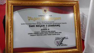 SMKN 3 Jombang Juara II BKK Award 2018